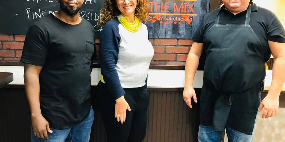 Immigration Lawyer Inna Simkovsky and the owners of The Mix